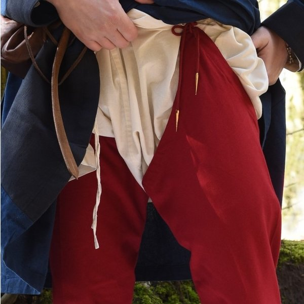 Chausses medievali con stringhe, rosso