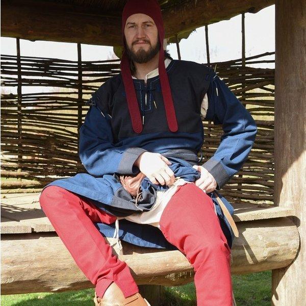 Średniowieczne sznurówki z koronkami, czerwone