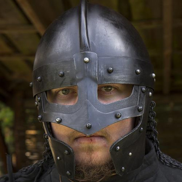 Epic Armoury Kask Viking LARP Egil, brązowany