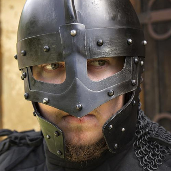 Epic Armoury Viking LARP hjälm Egil, bronsad