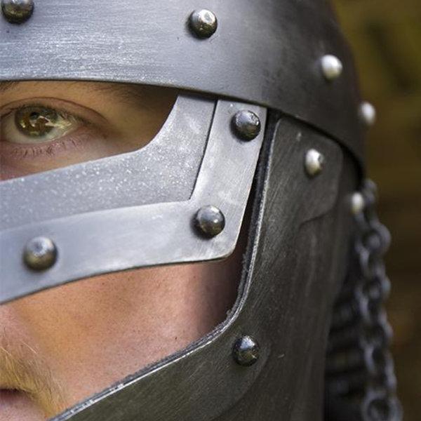 Epic Armoury Viking LARP helm Egil, gebronsd