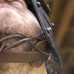 Kask Viking LARP Egil, brązowany