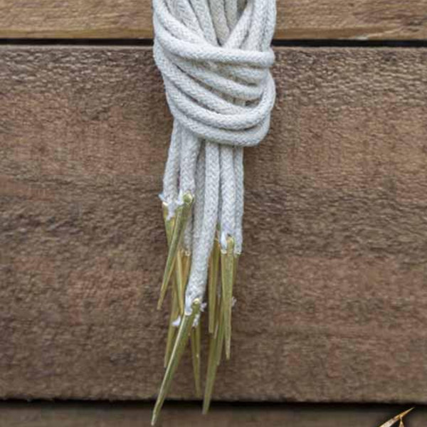 Epic Armoury Tie laces with aiglets, set of 6, natural