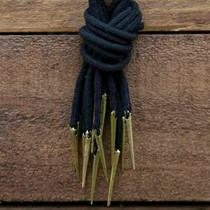 Epic Armoury Cravate à lacets avec aiglets, lot de 6, noir