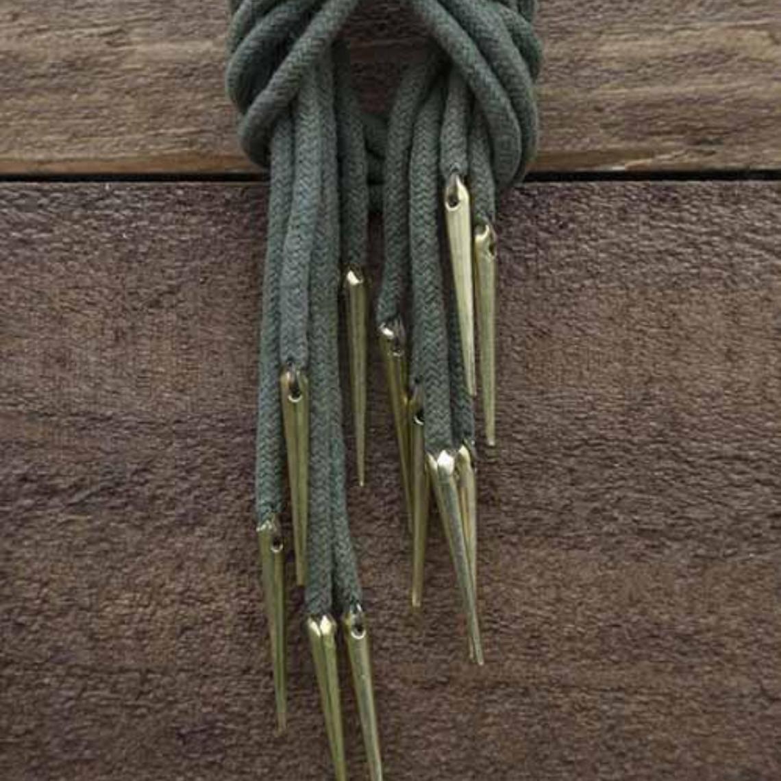 Epic Armoury Schnürsenkel mit Aiglets, 6er-Set, grün
