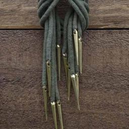 Sznurowane koronki z aigletami, zestaw 6, zielony