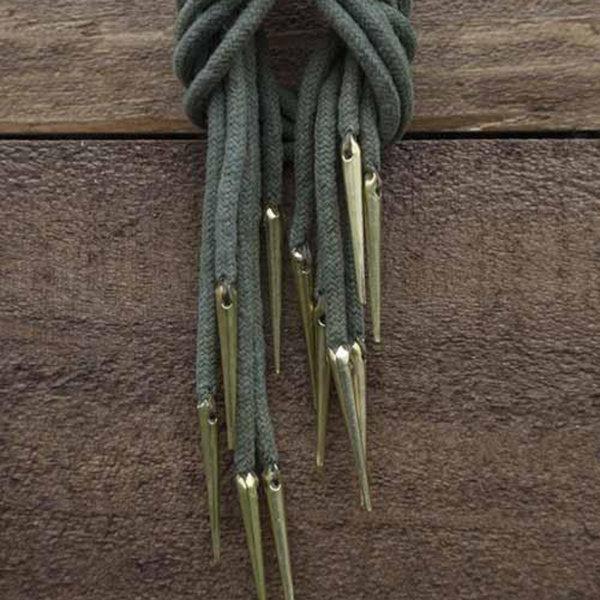 Epic Armoury Cravate à lacets avec aiglets, lot de 6, vert