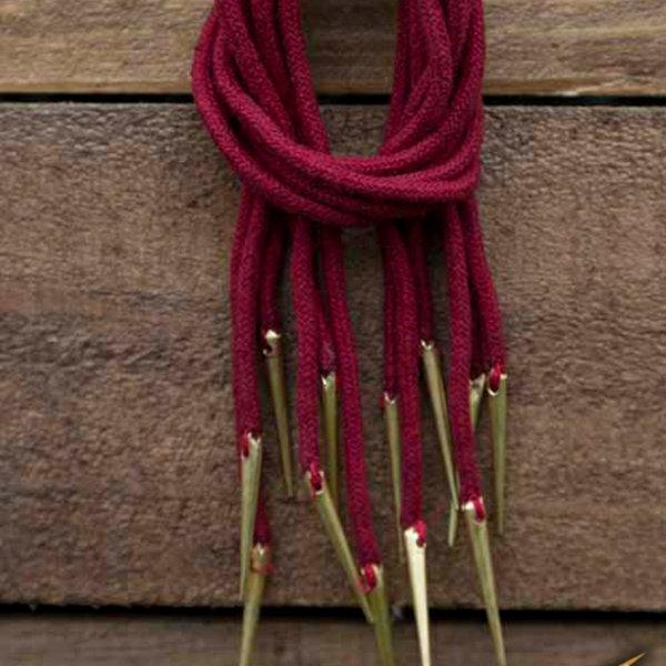 Epic Armoury Cravate à lacets avec aiglets, lot de 6, rouge