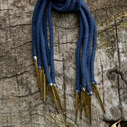 Cravate à lacets avec aiglets, lot de 6, bleu