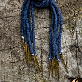 Epic Armoury Tie snören med aiglets, set med 6, blå