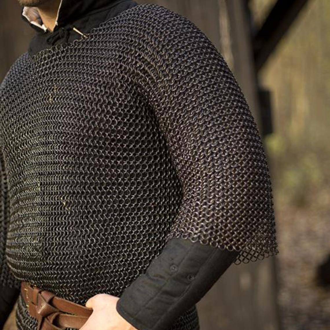 Epic Armoury Cavaleriemaliënkolder, korte mouwen, zwart