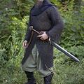 Epic Armoury Kavalleri hauberk, svart, nitade