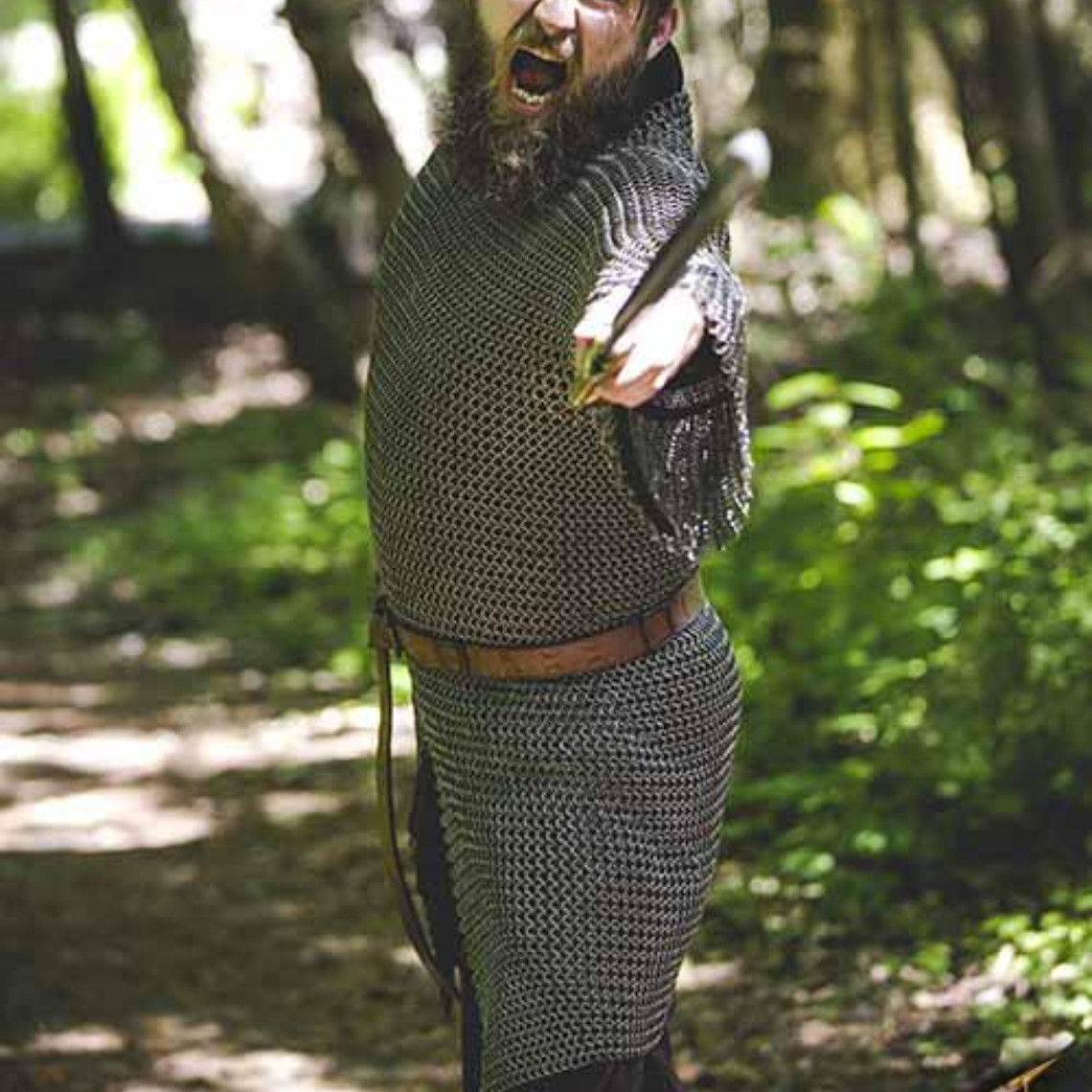 Epic Armoury Kawaleria hauberk, stal