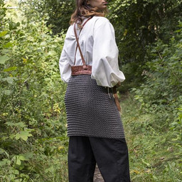 Chainmail skirt with belts