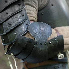 Epic Armoury Middeleeuwse elleboogbeschermers, gepatineerd