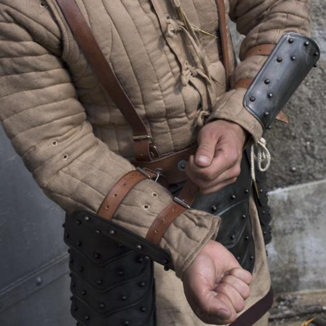 Epic Armoury Middeleeuwse onderarmbeschermers, gepatineerd