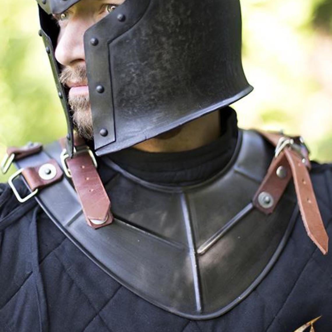 Epic Armoury Gorget Drake, gepatineerd