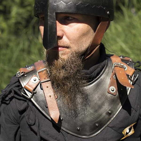Epic Armoury Late medieval gorget, patinated