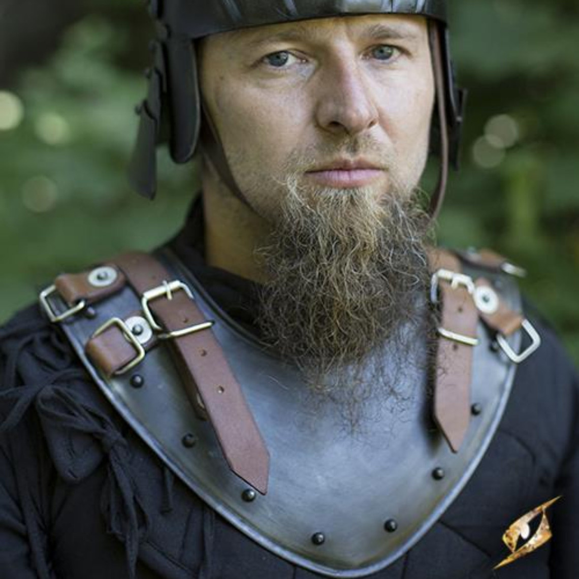Epic Armoury Gorget tardo medievale, patinato
