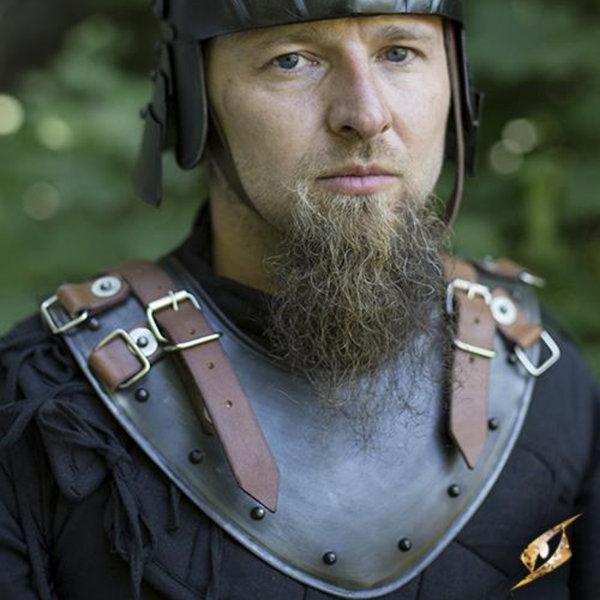 Epic Armoury Gorget de la fin du Moyen Age, patiné