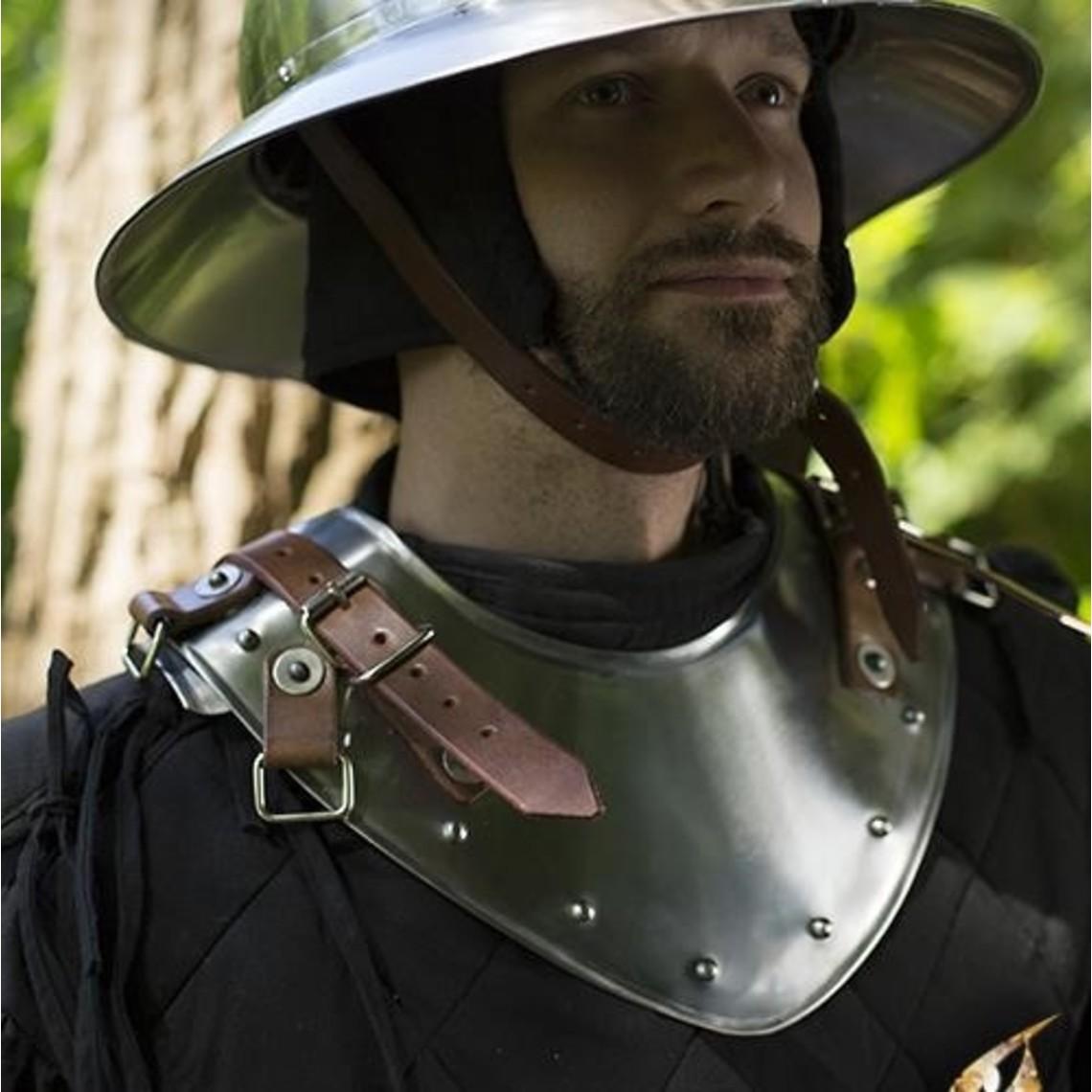 Epic Armoury Gorget tardo medievale