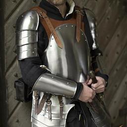 Conjunto de armadura Merc, cuero marrón