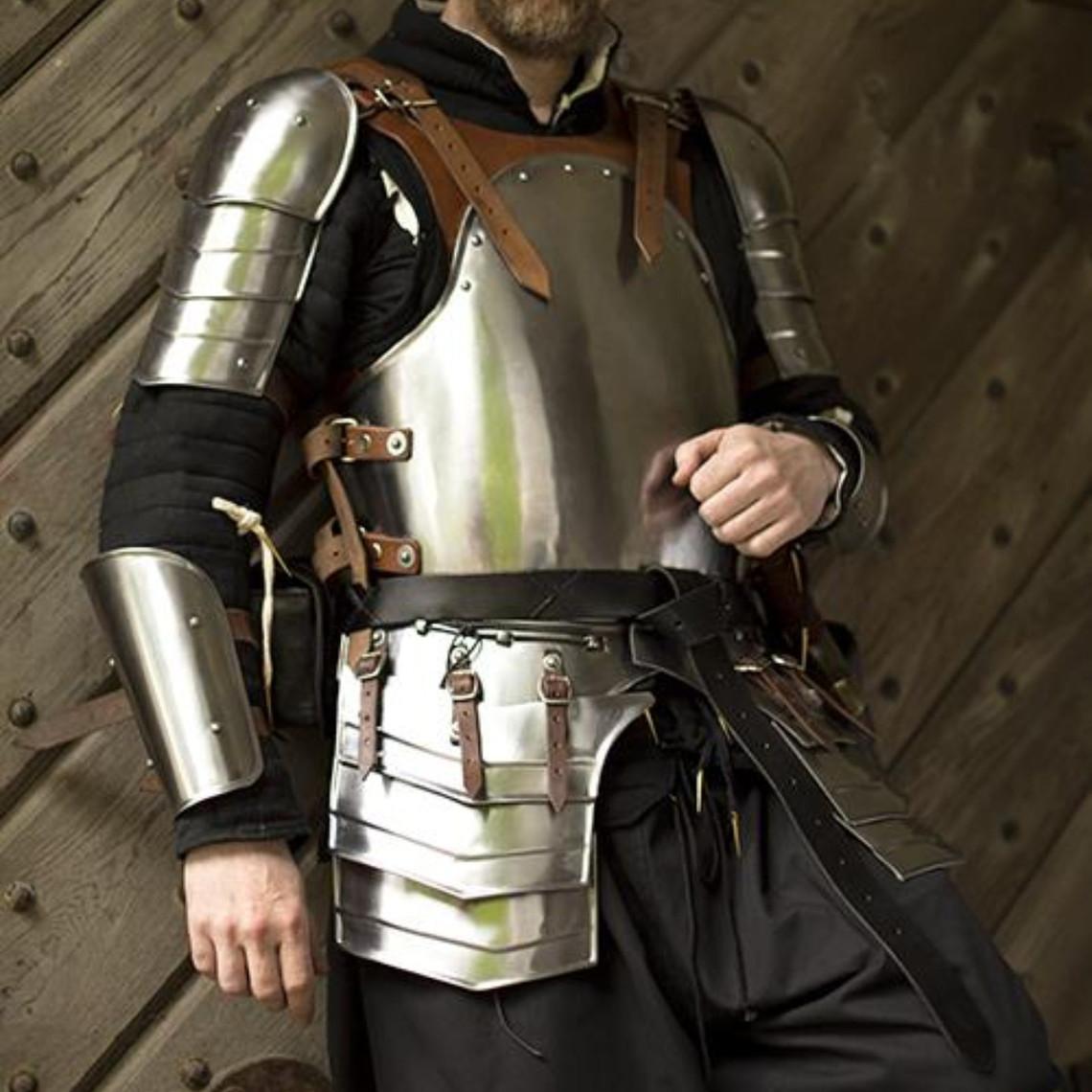 Epic Armoury Conjunto de armadura Merc, cuero marrón