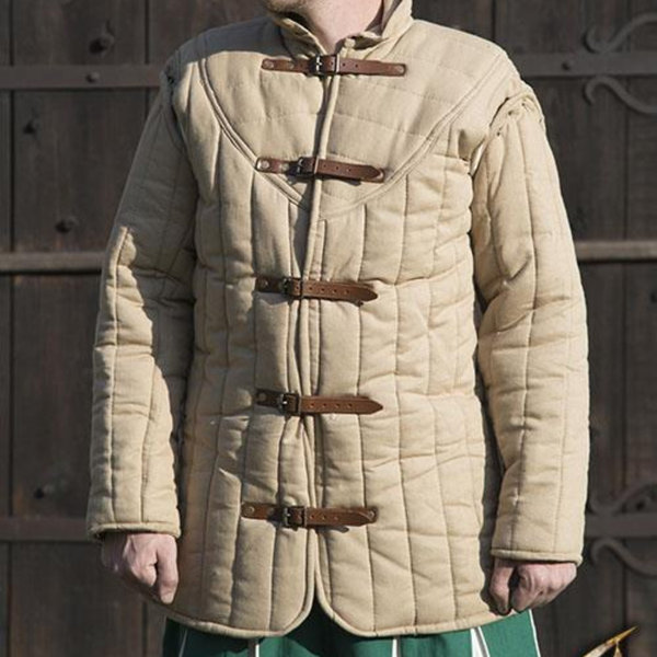 Epic Armoury Medieval belt gambeson beige