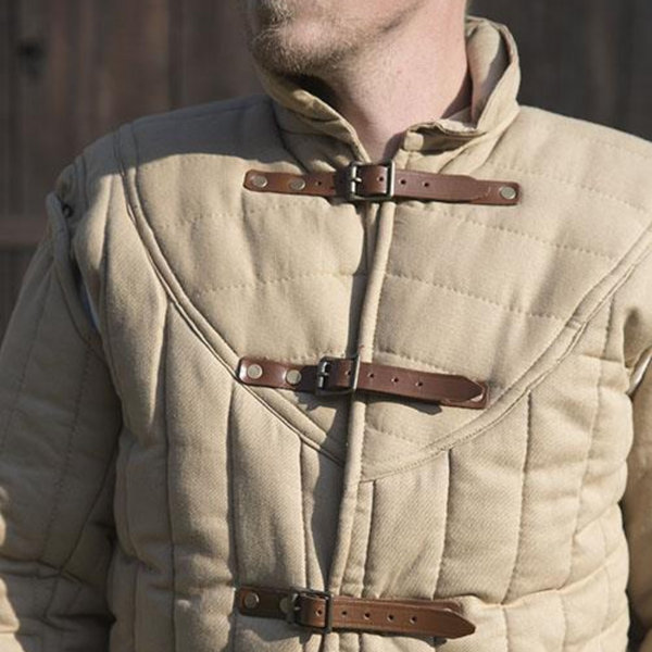 Epic Armoury Middelalderlige bælte gambeson beige