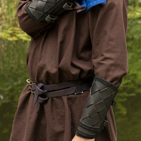 Epic Armoury Cuir vambraces Viking, noir, paire