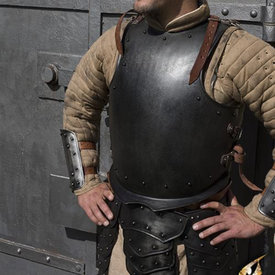Epic Armoury Middelalderlig cuirass med nitter, patineret