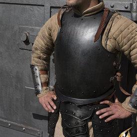 Epic Armoury Middeleeuwse borstplaat met klinknagels, gepatineerd
