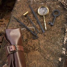 conjunto antirrobo, marrón