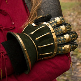 Epic Armoury Luxurious hourglass gauntlets, green-gold