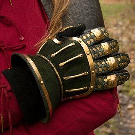 Epic Armoury Zandloperhandschoenen deluxe, groen-goud