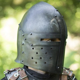 Epic Armoury Sugar Loaf helmet, patinated