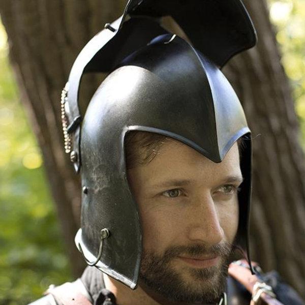 Epic Armoury Viseret barbuta, patineret