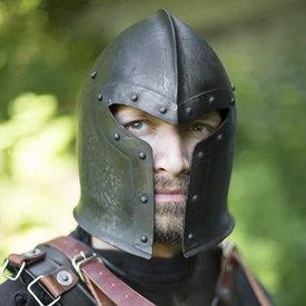 Epic Armoury XV-wieczna barbuta, patynowana