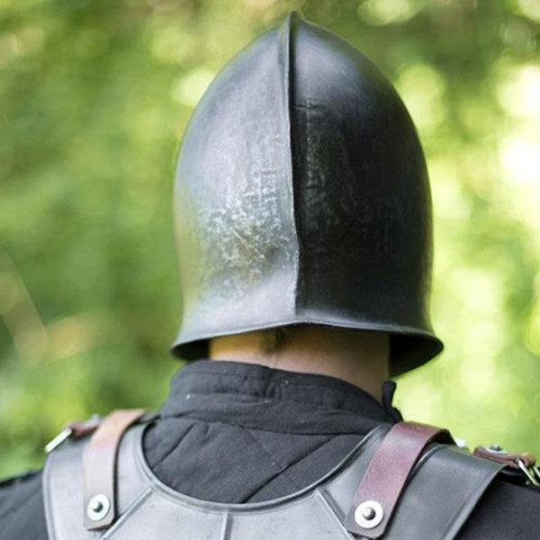 Epic Armoury 15th century barbute, patinerad