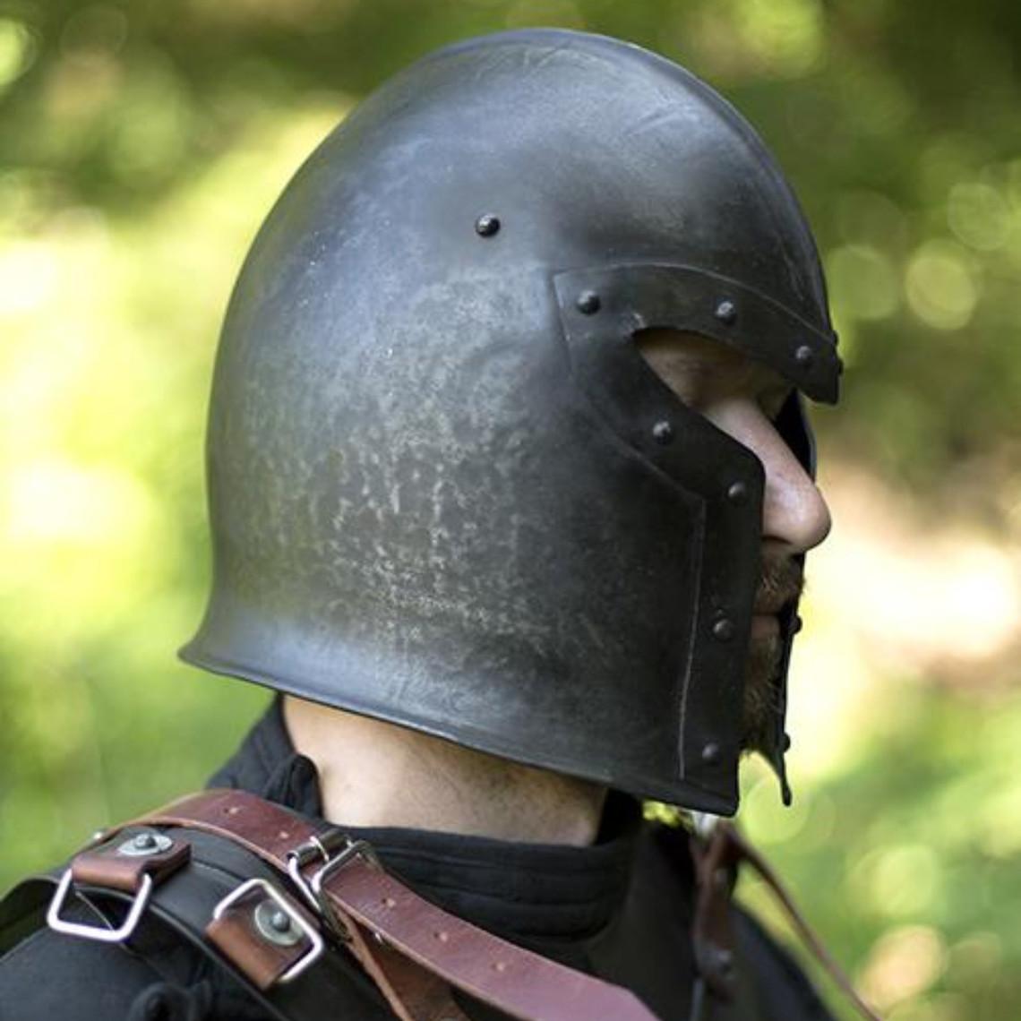 Epic Armoury Barbute del siglo XV, patinado