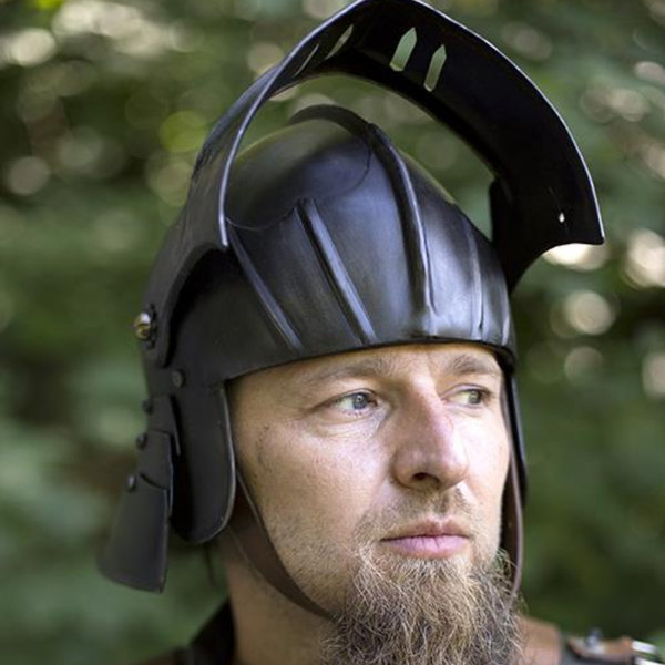 Epic Armoury 16th century sallet, patinated