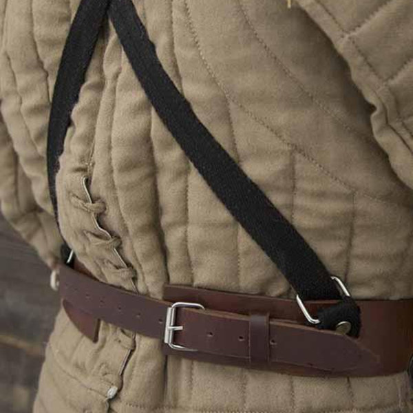 Epic Armoury Tassets deluxe with belts, patinated