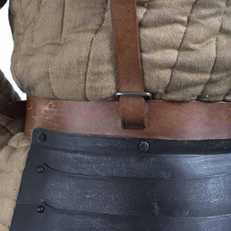 Tassets deluxe with belts, patinated