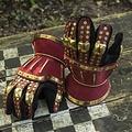 Epic Armoury guanteletes de reloj de arena de lujo, rojo dorado