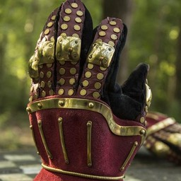 Luxurious hourglass gauntlets, red-gold