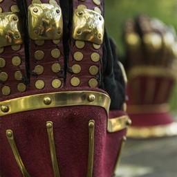 Luxuriöse Sanduhr gauntlets, rot-gold