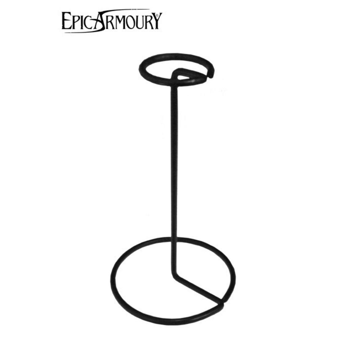 Epic Armoury Métal (casque) debout, noir