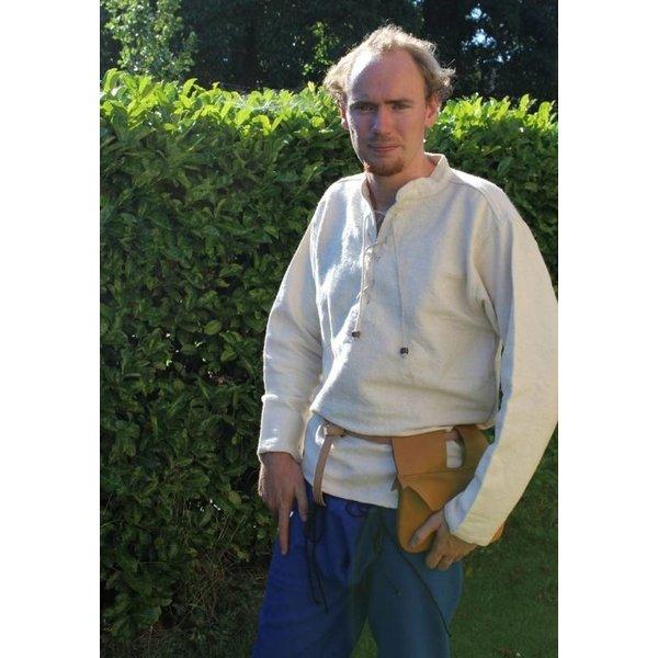 Leonardo Carbone Tyk bomuld skjorte, sort
