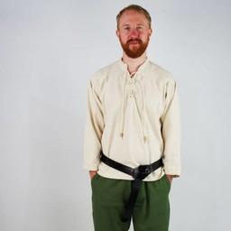 Ręcznie tkana koszula, kremowa