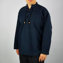 Camisa tejido a mano, azul